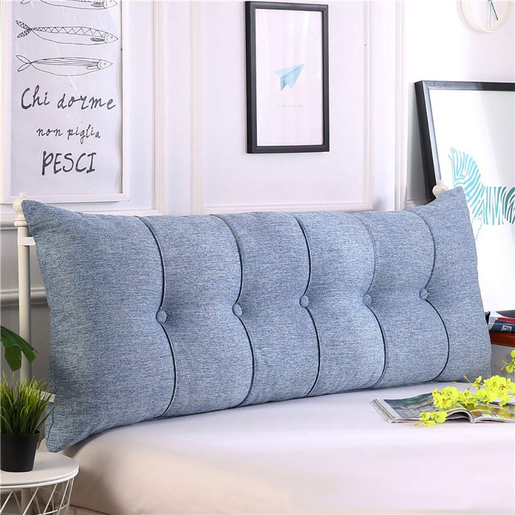 Ed3cu6 Large Soft Upholstered Large Bolster Triangular Reading Backrest Positioning Support Wedge Pillow Headboard for Day Bed Bunk Bed (Color : D, Size : 200cm)