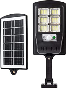 Baiston 96 LED Solar Street Light Outdoor Wireless Solar Flood Light, IP67 Waterproof Solar Street Pole Light Motion Sensor Security Light for Street, Yard, Garage, Patio, Garden, 6000K,Yard(2Pack)