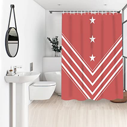 Image Unavailable Not Available For Color Wasserrhythm Shrimp Red Shower Curtain Navy
