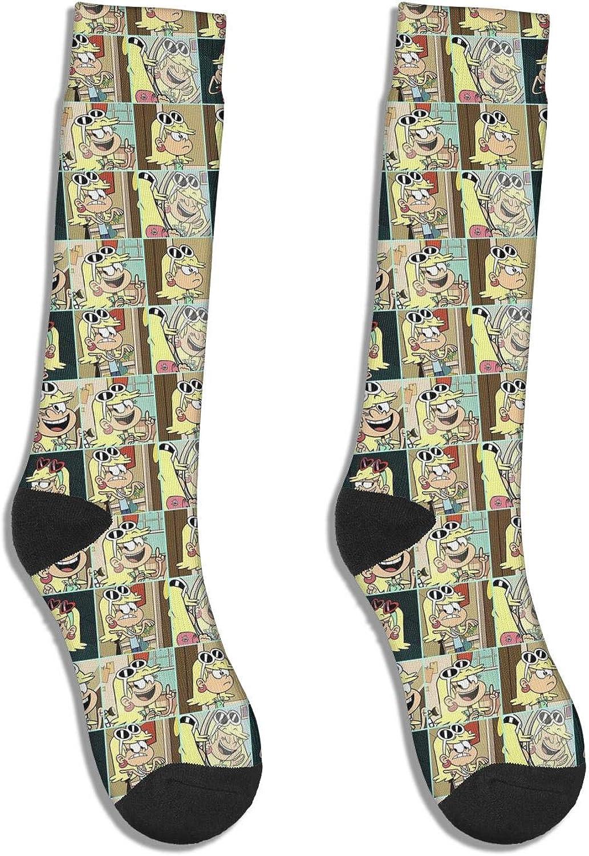 Womens Leni-Loud-White-Sunglasses-On-Top Socks Crazy Warmer High Ankle Socks for Womens