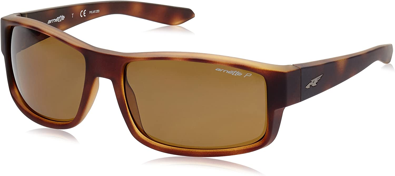ARNETTE Boxcar gafas de sol, Fuzzy Havana, 59 para Hombre