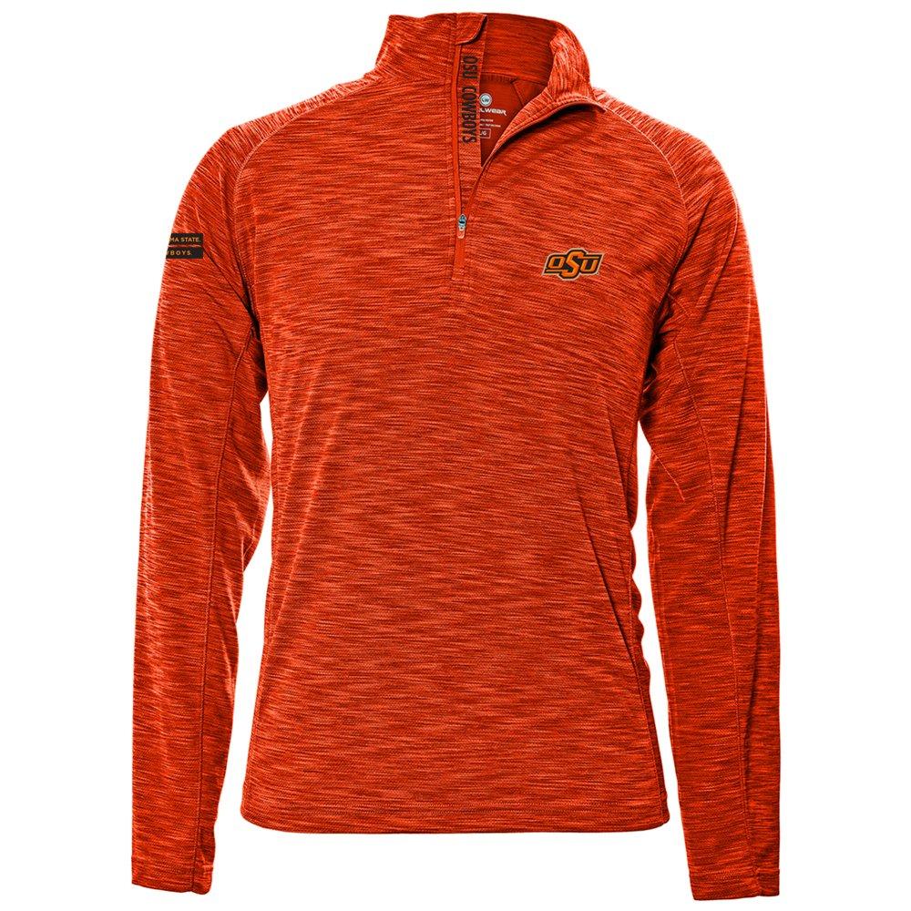 Levelwear LEY9R NCAA クオータージッププルオーバー ストロングスタイル ミッドレイヤー B074PD768J Large|オレンジ|Oklahoma State Cowboys オレンジ Large