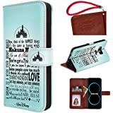 Onelee Galaxy S8 Wallet Case, Walt Disney Quotes Premium PU Leather Durable Never Faded Stand Case Back Protector for Samsung Galaxy S8 with Card Slots