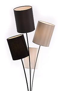 Lampada da terra moderna con 4paralumi, in bianco, grigio, nero e beige   soggiorno   Adatto a LED   Altezza 160cm
