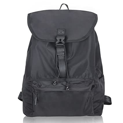 56218264a8 Amazon.com  LUXJA Drawstring Backpack with Front Flap