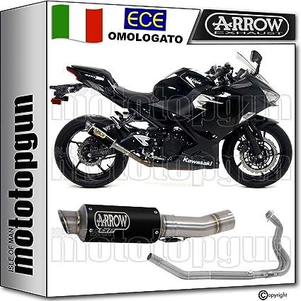Arrow Escape homologado GP2 nichrom Negro Kawasaki Ninja 400 ...