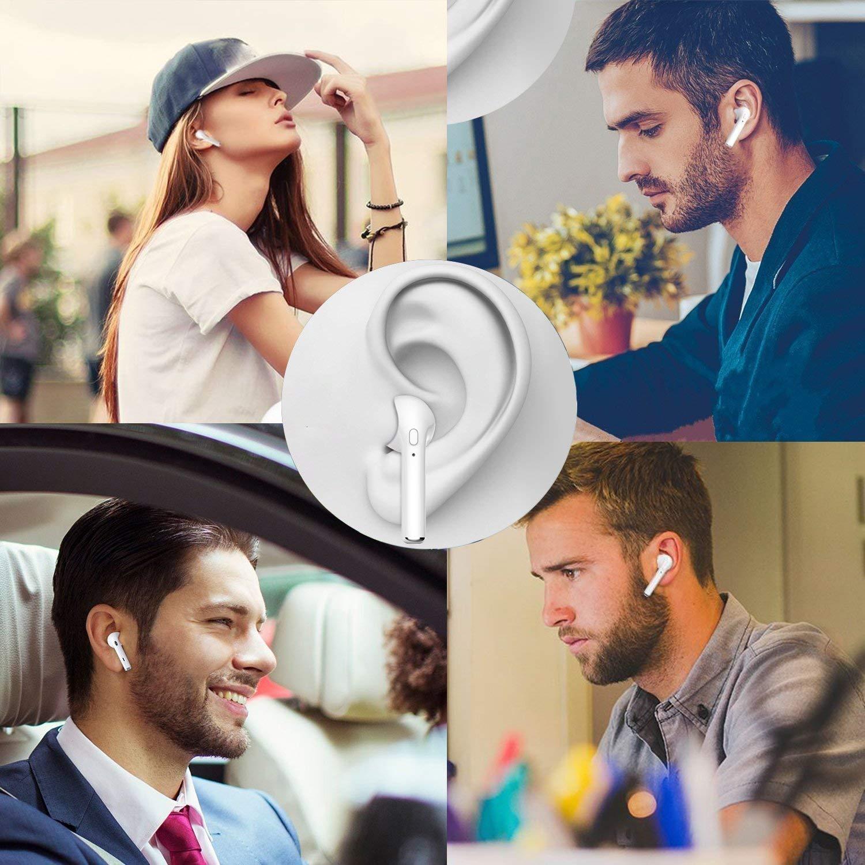 tel/éfonos Inteligentes Android Auriculares Bluetooth Auriculares inal/ámbricos Auriculares est/éreo Auriculares Deportivos inal/ámbricos Compatible con iOS Android Blanco-1