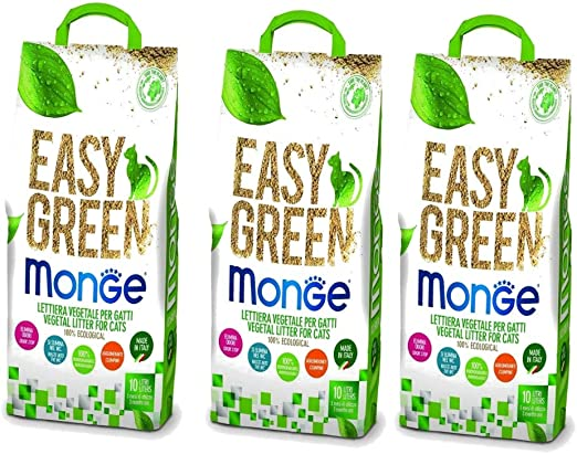 Monge Easy Green - Arenero para Gatos Hurones Reptiles Cat 10 ...
