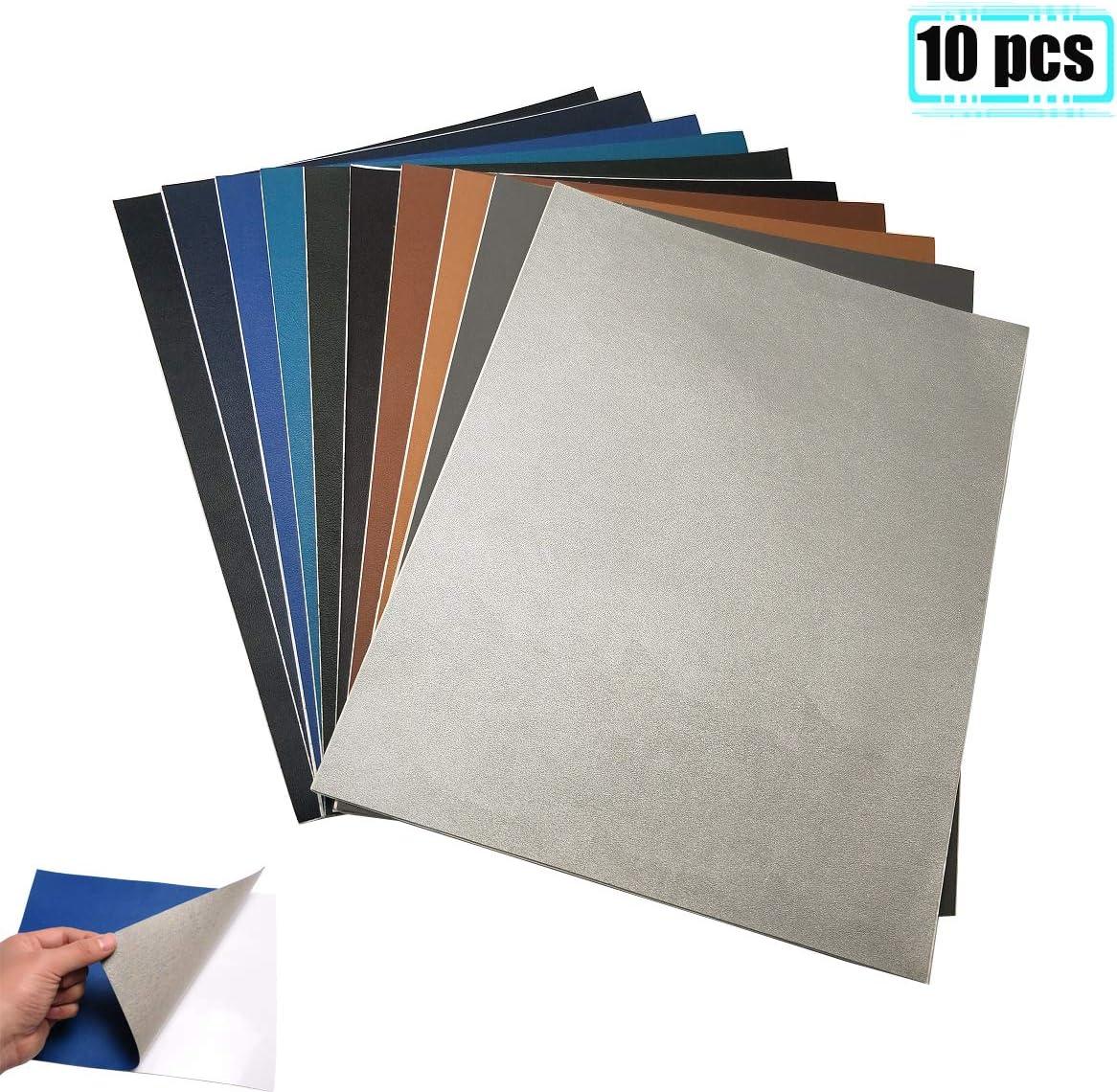 Parche de cuero PU de 20X25 cm Parches de reparación autoadhesivos para sofá Chaqueta de asiento de automóvil 10/15/26 colores. (10color-1)