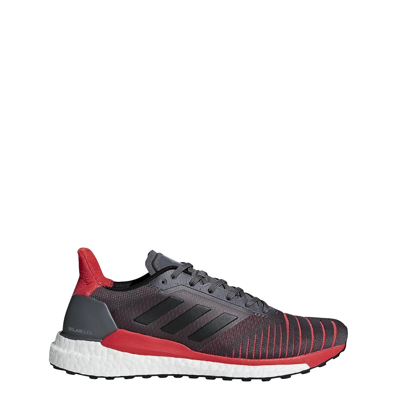 adidas Men's Solar Glide Running Shoe B077XLK399 10.5 D(M) US|Grey/Black/Hi-res Red