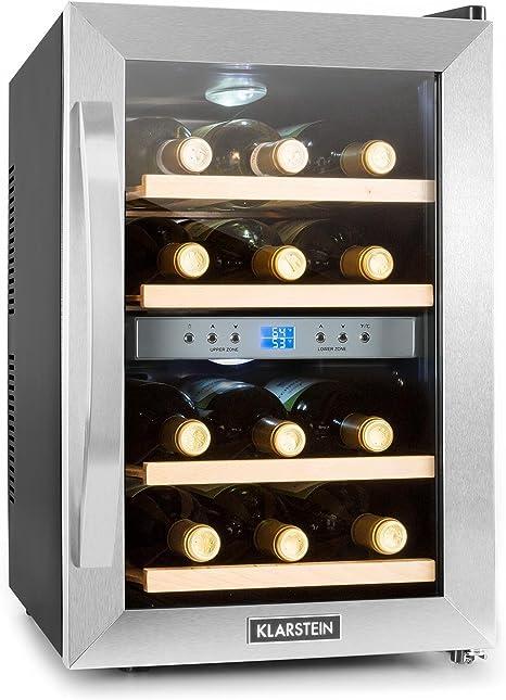 12 Flaschen 2 Zonen Weinkühlschrank Getränkekühlschrank
