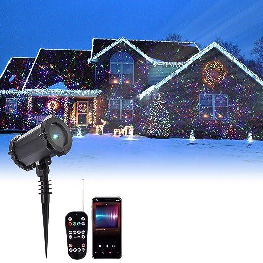 mituning Proyector Exterior LED Navidad RGB 48 Motifs con ...