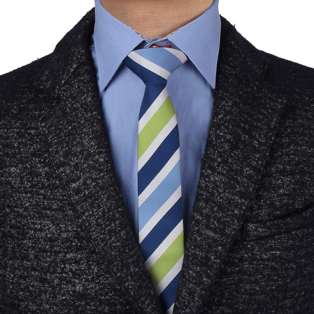 Epoint EAEF.02 Moderno Microfiber Mens Slim Tie Italiano en l¨ªnea doble cara Skinny Tie