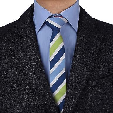 EAEF0041 Microfibra rayada verde azul delgado Corbata Lazo rojo ...