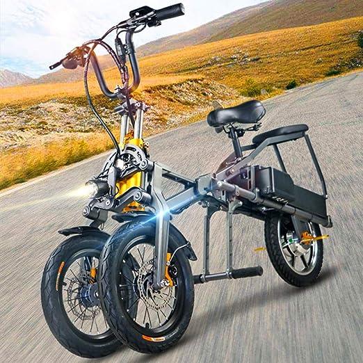 ZHaoZC Bicicleta eléctrica para Adultos, Bicicleta eléctrica de ...