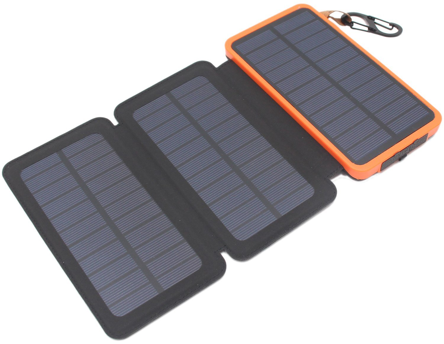 low priced a1971 2c74f Itscool Solar USB Charger Power Bank 12000mAh, 9 LED, 3 Solar Panels with 2  USB for Smartphones and All 5V Devices (3 Panels Orange)