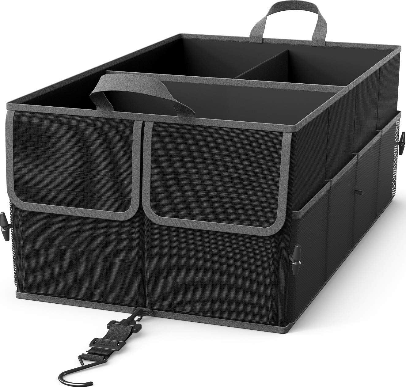 EPAuto 3-Compartment Cargo Trunk Storage Organizer