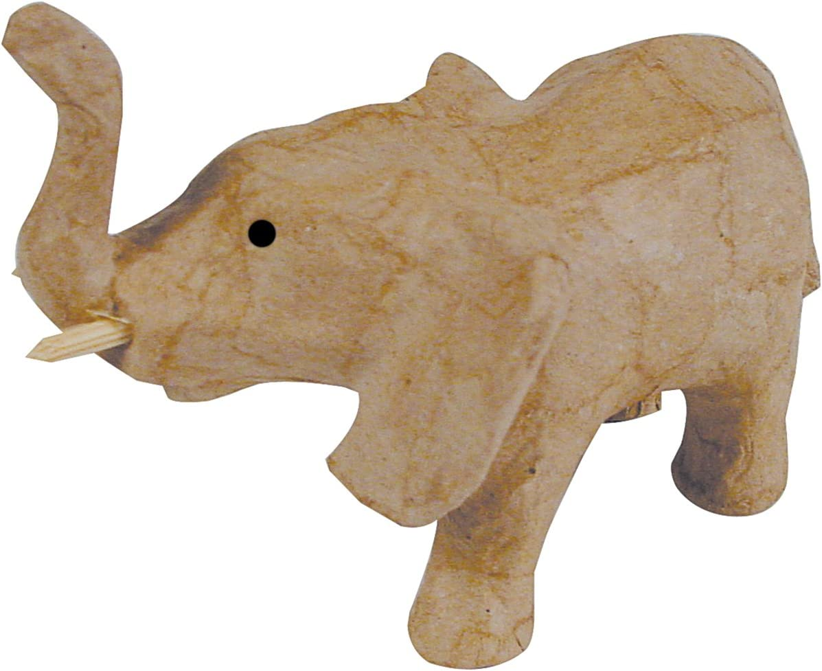 Gifting Ideas Creative DIY Craft 8.25 x 4.5 inches Paper Mache Elephant Color Your Own /& Decorate