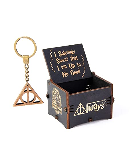 Enjoy The Wood Hedwigs Theme Harry Potter - Caja de música de Madera Personalizada, Movimiento