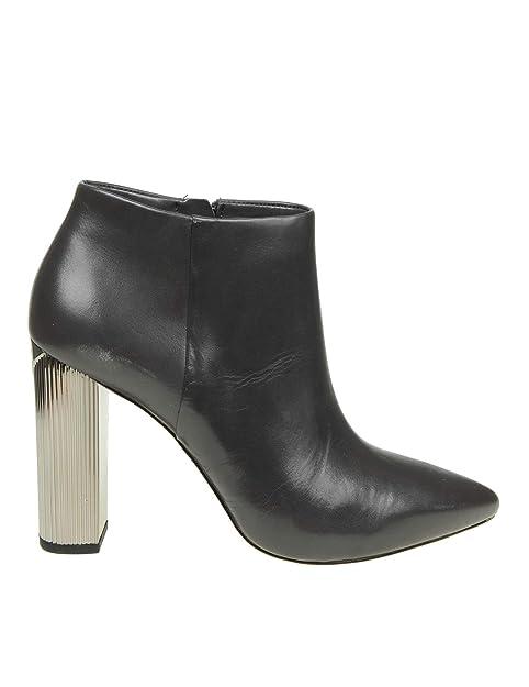 Michael By Michael Kors Mujer 40F8pahe5l031 Negro Cuero Botines: Amazon.es: Zapatos y complementos