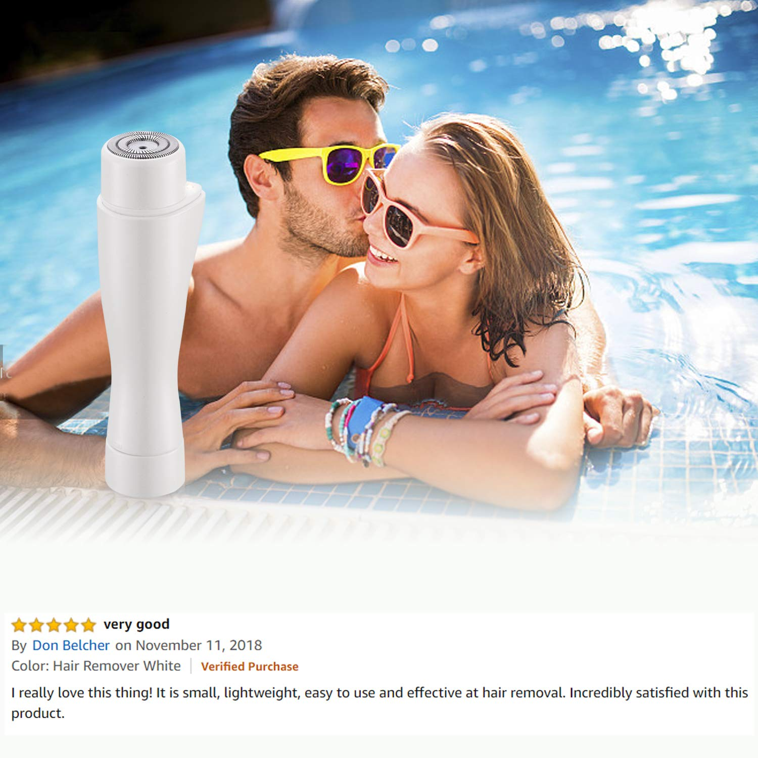 Tobeape Facial Hair Removal for Women, Waterproof Electric Painless Hair Remover Trimmer for Face Facial Armpit Upper Lip Chin Bikini Line Area Arm Leg, Built-in LED Light