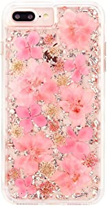 Case-Mate iPhone 8 Plus Case - KARAT PETALS - Made with Real Flowers - Slim Protective Design for Apple iPhone 8 Plus - Pink Petals - CM036176