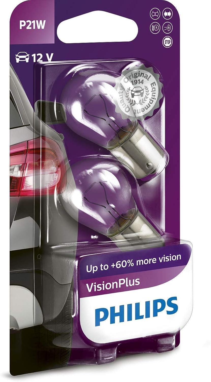 Philips 12498vpb2 Visionplus P21w Signallampe 12498vpb2 2er Blister Auto