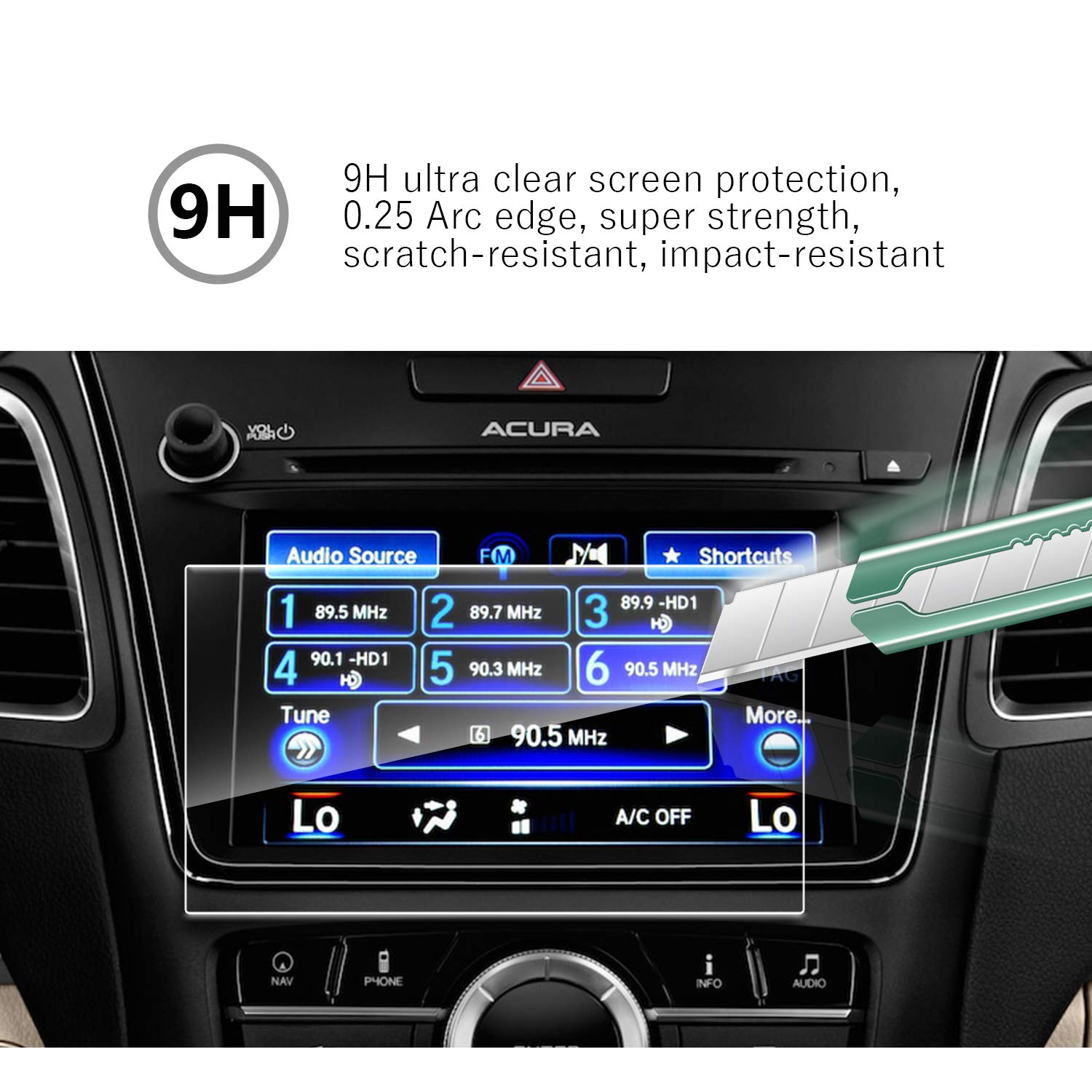 YEE PIN 2016 2017 2018 Acura RDX 29 ODMD Display 7Inch Tempered Glass Touch Sensitivity Anti-Fouling Anti-Explosion Navigation Protector
