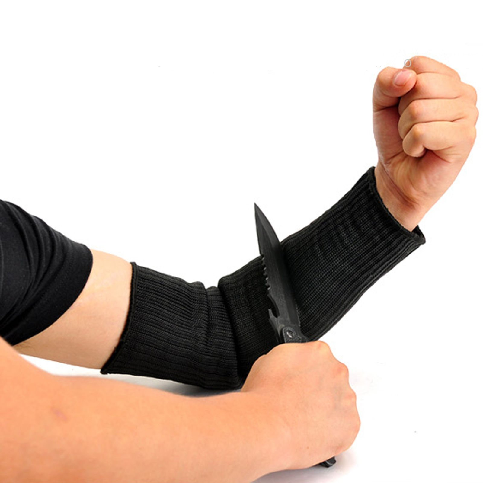 Yosoo Steel Wire Arm Guard Bracer Cut Proof Anti Abrasion Stab Resistant Armband Sleeve Vambraces Protector