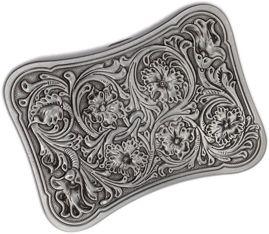 chiwanji Vintage Western Cowboy Floral Arabesque Belt Buckle Mens Native American Jewelry