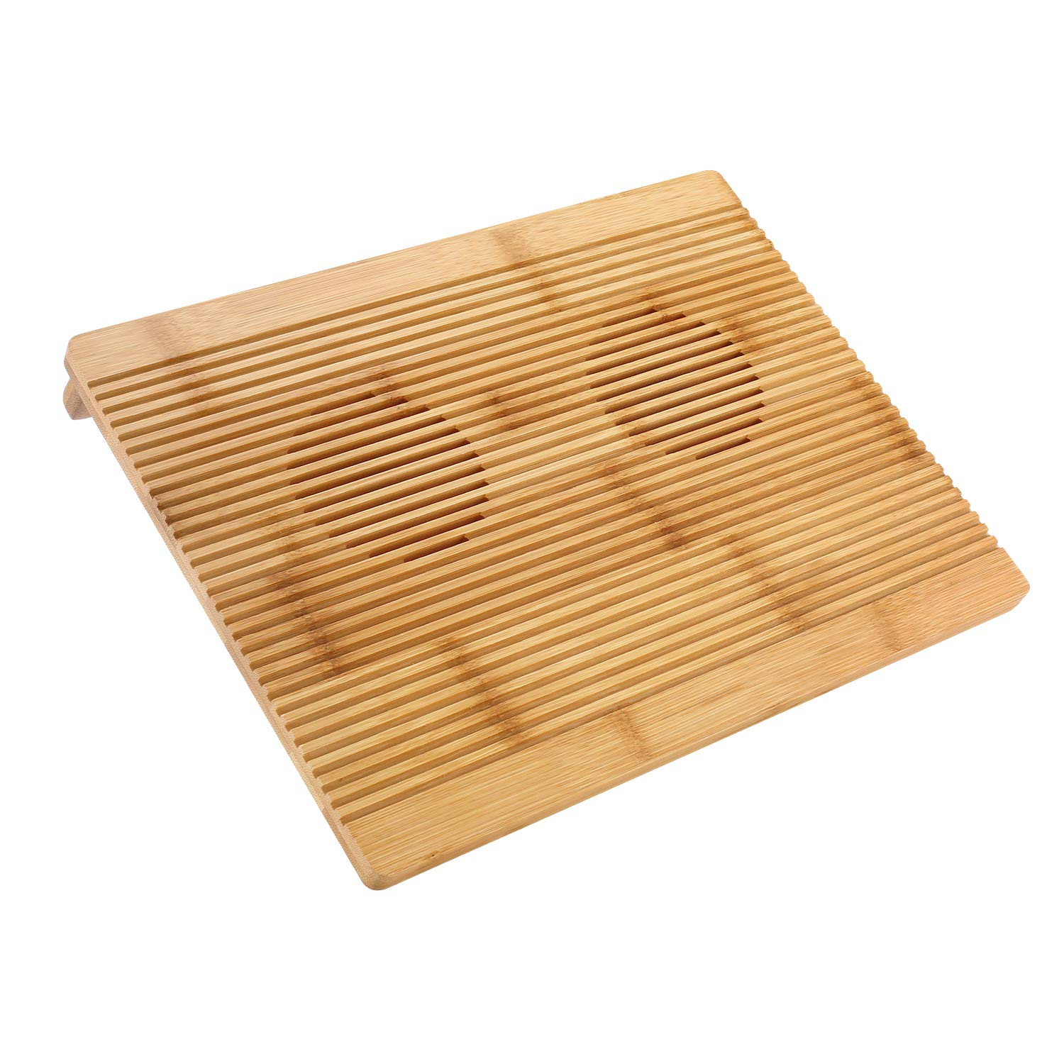 Laptop Stand Cooling Pad Nnewvante 100% Bamboo Laptop Cooler Pad Laptop Desk Laptop Table with Cooling Fans Stand for Laptops Notebooks