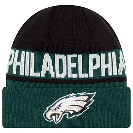 59216bd3a53b2 Image Unavailable. Image not available for. Color  New Era Philadelphia  Eagles Chilled Cuff Knit Hat Cap