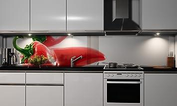 Küchenrückwand-Folie Paprika Klebefolie Spritzschutz Küche ...