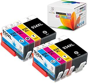 MS Deer 934XL 935XL Ink Cartridges Replacement for 934 XL 935 XL, Work with Officejet 6812 6815 6820 6825 Officejet Pro 6230 6830 6835 Printer (2BK+2CY+2MG+2YL) 8 Pack