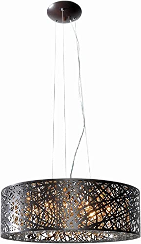 ET2 E21308-10BZ Inca 9-Light Multi-Light Pendant, Bronze Finish, Cognac Glass, G9 Xenon Bulb, 40W Max., Dry Safety Rated, 2900K Color Temp., Low-Voltage Electronic Dimmer, Glass Shade Material, 2250 Rated Lumens