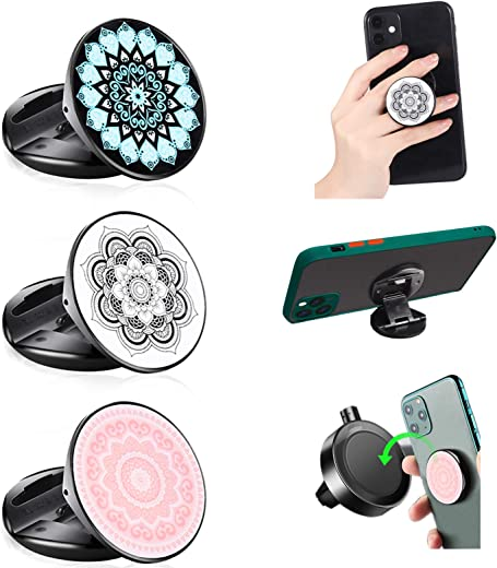 Phone Grip MR. YLLS Expanding Collapsible Socket Finger Holder Compatible with Magnetic Car Mount for Cell Phone and Tablets 3 Pack