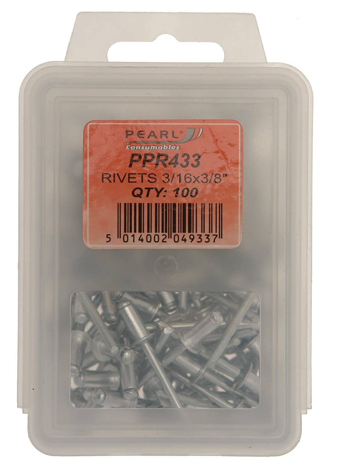 Pearl PPR433 3/16 x 3/8-inch Rivets (Pack of 100) Pearl Automotive