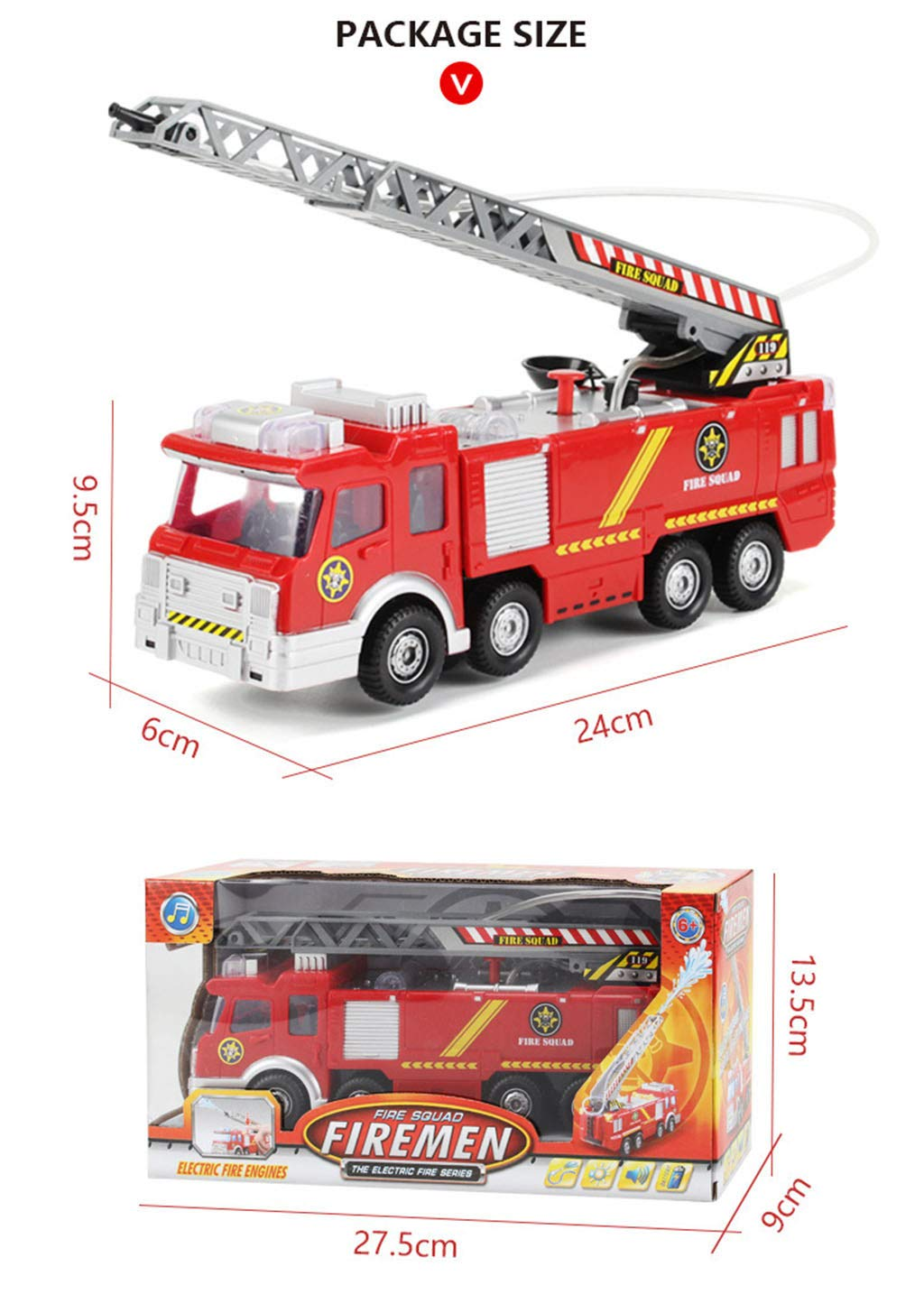 Fireman Sam Toy Truck Fire Truck Car With Music+led Boy Toy Educational Electronic Toys Color Box Online Discount Toys & Hobbies