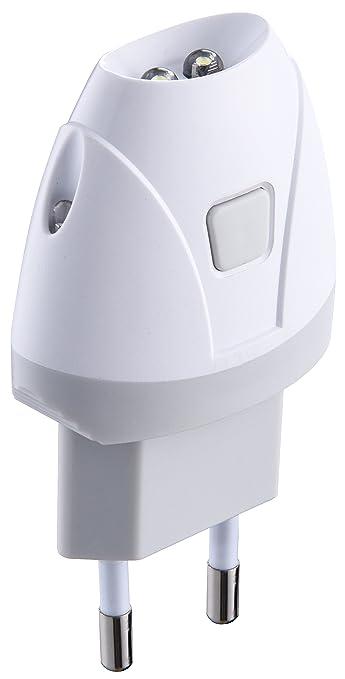 Luce Emergenza Da Presa.Electraline 58303 Torcia D Emergenza Automatica Con Funzione Luce Di Cortesia Led Bianco