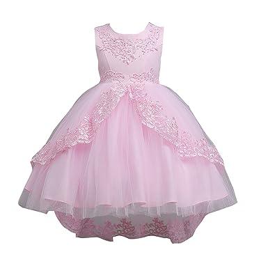 d408dab4bdf6b Elonglin 子供ドレス ロングドレス ガールズ フォーマル キッズドレス ワンピース 女の子 女児 リボン飾り ジュニア ピアノ