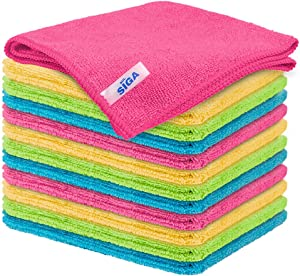 MR.SIGA Microfiber Cleaning Cloth,Pack of 12,Size:12.6