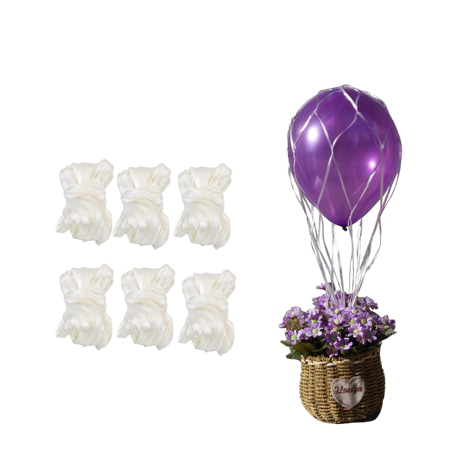 Amazon.com: White Hot Air Balloon Nets Centerpiece Netting For 36 ...