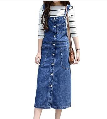 Amazon.com: Yougao Women\'s Plus Size Suspender Skirt Overall Large ...