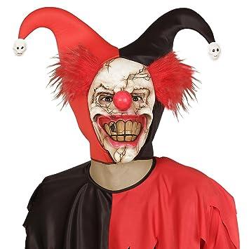 NET TOYS Máscara de Terror Payaso Careta payasito psicótico Antifaz Halloween bufón Mascarilla Terror IT Máscara terrorífica Complemento para Disfraz de ...