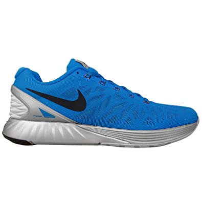 new photos 4be5a 93624 Nike Lunerglide 6 Flash Running Men s Shoes Size PHOTO BLUE BLACK-REFLECT  SILVER 10.5 D(M) US  Buy Online at Low Prices in India - Amazon.in