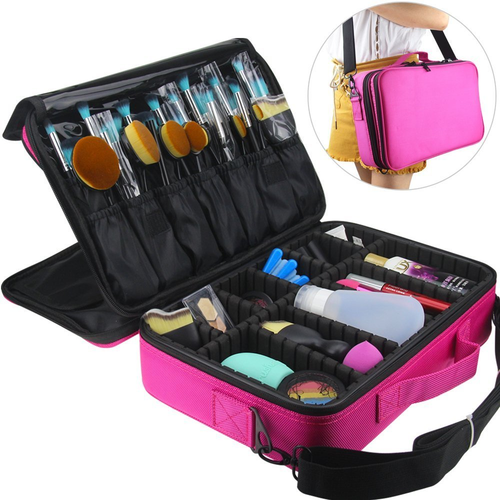 Amazon.com : Makeup Train Case, FLYMEI Super Large Space Cosmetic Organizer  Professional Make Up Artist Storage for Cosmetics, Makeup Brush Set,  Jewelry, ...