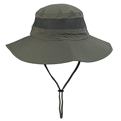 d891b61070d Unisex Outdoor Bucket Mesh Boonie Fishing Sun Hat at Amazon Women s ...