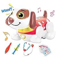 GAMZOO Pet Veterinarian Toys Doctor Kit Electronic Robot Dog