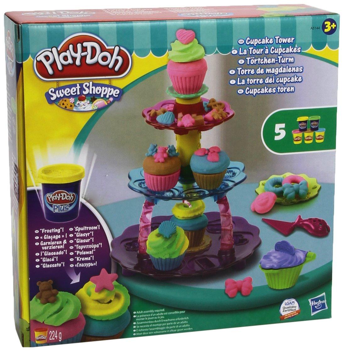 Play Doh Cocina   Play Doh Sweet Shoppe Cupcake Tower Playset Amazon Co Uk Toys
