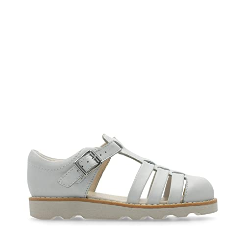 123f6600ddc01 Clarks Crown Stem Leather Sandals in White: Amazon.co.uk: Shoes & Bags